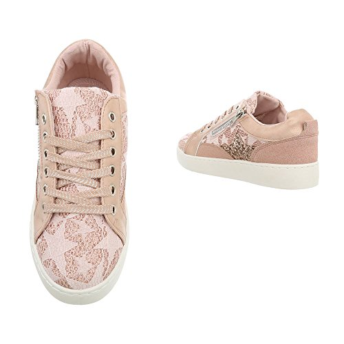 Espadrilles Baskets Ital 744 Altrosa Sneakers Low Mode design Femme Plat Chaussures qxUwxa40