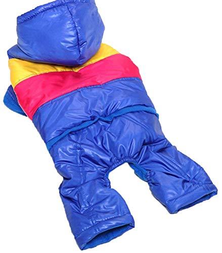 MaruPet Contrast Color Skicoat Waterproof Warm Casual