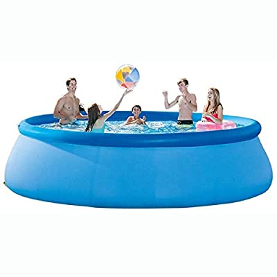 Rindasr Summer Backyard Outdoor Adult Inflatable Swimming Pool, 96-inch Round Thick PVC, Polyester Fiber mesh, with Electric air Pump, Children 's Water Entertainment Paddling Pool: Home & Kitchen