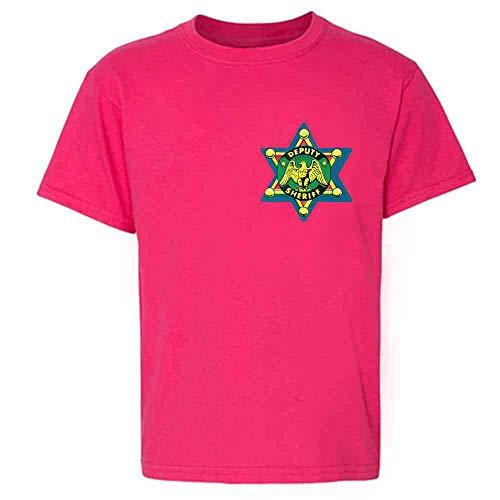 (Pop Threads Sheriff Badge Retro Western Cowboy Pink 2T Toddler Kids T-Shirt)