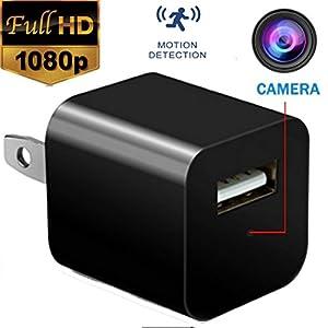 Hidden Spy Camera - USB Charger Camera - Mini Spy Camera 1080p - Security Camera Charger - Motion Detection - Hidden Cam - Nanny Cam - Spy Camera - USB Wall ChargerFULL HD