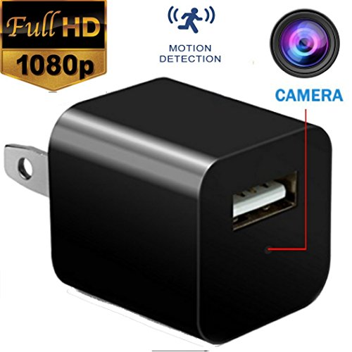 Hidden Spy Camera - USB Charger Camera -  Mini Spy Camera 1080p - Security Camera Charger - Motion Detection - Hidden Cam - Nanny Cam - Spy Camera - USB Wall Charger FULL HD