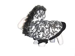 METALLIC FASHION DOG PARKA COAT with Removable Hood (features Thinsulate Insulation) with free PurchaseCorner cleaning cloth
