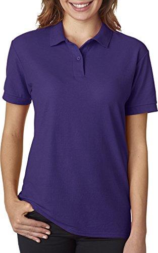 - Gildan - Ladies DryBlend Double Pique Polo Shirt - 72800L-Purple-S