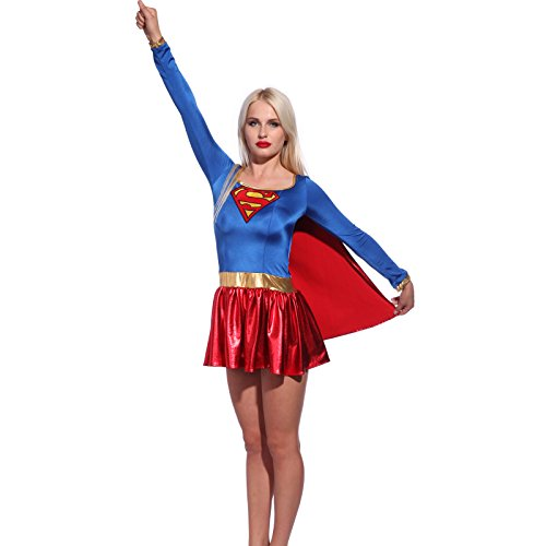 [Sexy Superwoman Costume superlady S us 2 4] (Comic Con Costumes For Females)