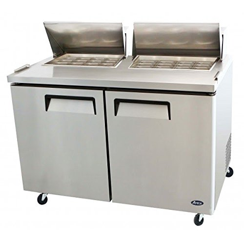 Atosa USA MSF8307 Stainless Steel Mega Top Sandwich/Salad Prep Table 60-Inch Two Door Refrigerator
