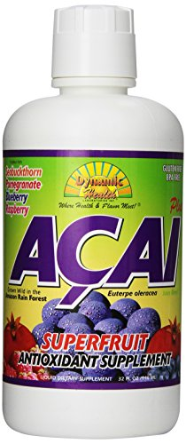 Organic Acai Juice Blend Dynamic Health 32 oz Liquid -
