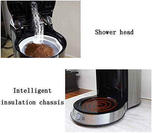 Qinmo Machine à café glacé, Machine à café Grain à la Tasse, American Household Machine à café Goutte à Goutte Isolation Cafetière Automatique thé en Acier Inoxydable Commercial
