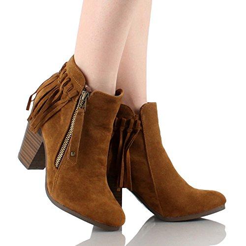 Breckelles Gail-26 Stivaletti Alla Caviglia Con Cinturino In Chunky Impunturati Tacco 11
