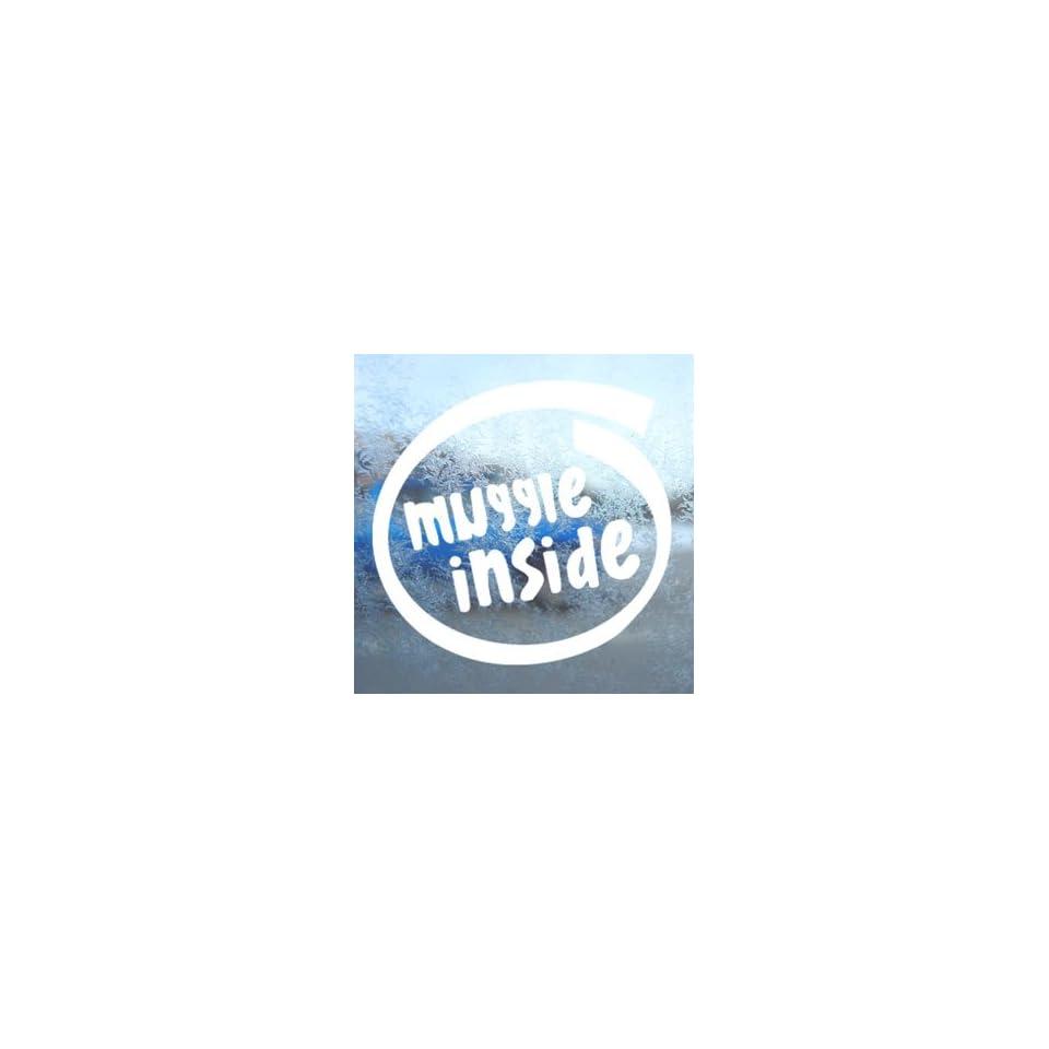 Muggle Inside White Decal Car Laptop Window Vinyl White Sticker
