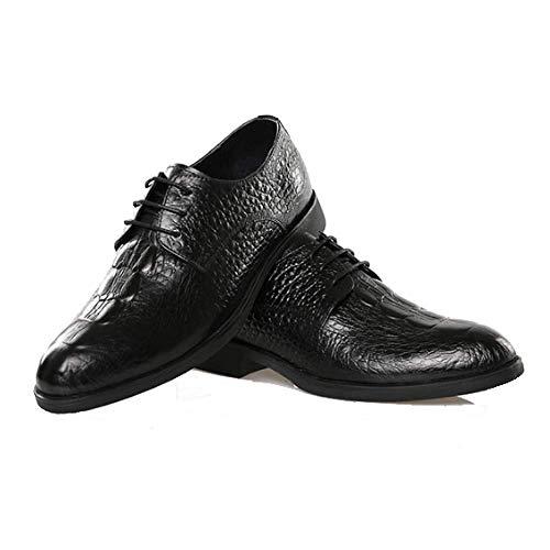 Indossabile da Pelle in Black Traspirante British Casual Fashion Pointed Primavera Scarpe Style Uomo XqU0g