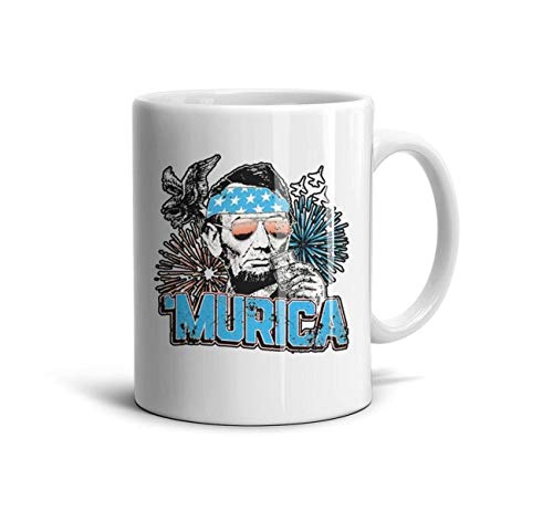 Horace Browne Coffee Mug - Murica Abe Lincoln Memorial Day Motivational Mug Fun Mugs Funny Gift ()