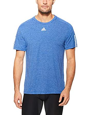 adidas Men's CW3241 ID Stadium 3-Stripes T-Shirt, Mystery Ink, Small
