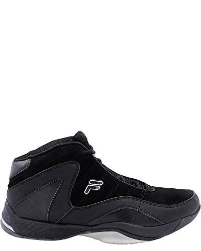 Fila Men's Sweeper Basketball Shoe, Black/Black/Metallic Silver, 13 M US