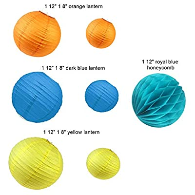 Paper Jazz Outer space theme party supply kit swirl party decoration planet birthday party: Toys & Games