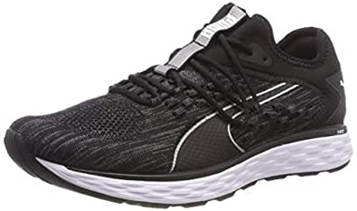 PUMA Men's Speed Fusefit Blk-Iron Gate Shoes, Puma Black-Iron Gate, 10 US