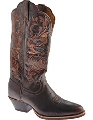 Twisted X Womens Western Chocolate Embroidered Cowgirl Boot Round Toe - Wwt0032