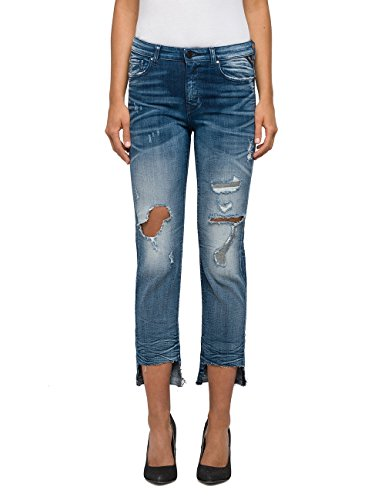 Replay Women's Maestro Demir Women's Medium Light Slim-Fit Jeans in Size 27 Blue (Jeans Replay Women)