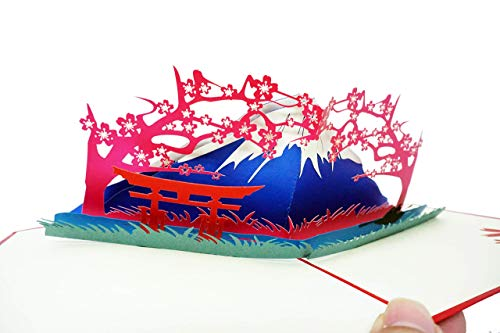 Tarjeta en 3D (Fuji Mountain) una unidad
