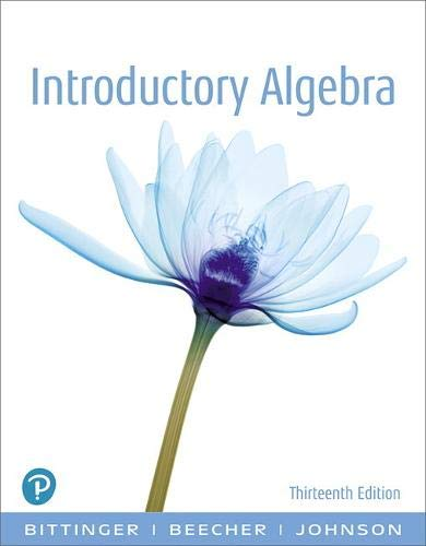 Introductory Algebra (13th Edition)