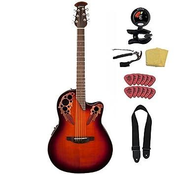 Ovation CE44 - 1 Celebrity Elite Mid profundidad paquete de guitarra ...