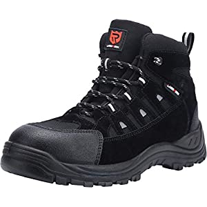 LARNMERN Safety Boots for Mens, LM-316 S3 SRC Safety Shoes Anti-Puncture Work Boots Reflective Slip-Resistant Anti…