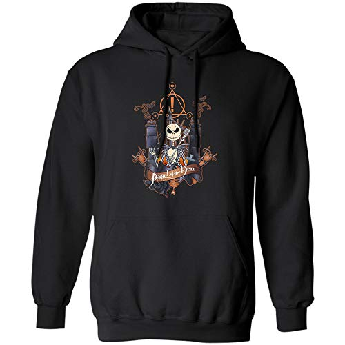Jack Skellington, Panic at The Disco T Shirt Halloween for Men, Women and Youth (Hoodie;Black;M)]()