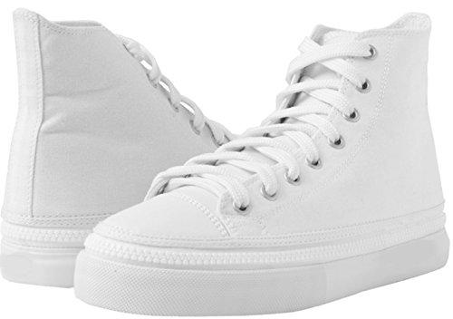Zipz Unisex Casual In Tela High Top Sneakers Intercambiabili Pattini Da Skateboard Whiteout