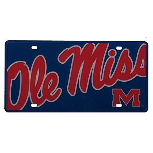 Mississippi Ole Miss Rebels Full Color Mega Inlay License - Outlets Mississippi In