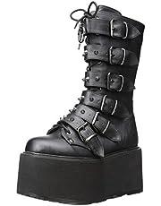 Demonia Women's DAMNED-225 Mid Calf Boot, Black