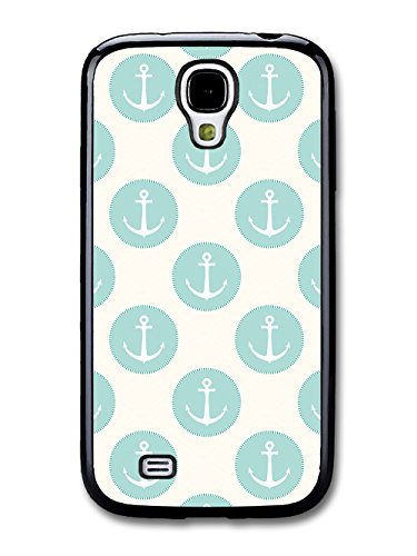 Anchor and Blue Circle Pattern on White Background Vintage coque pour Samsung Galaxy S4