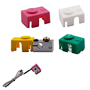 Green/Pink/Yellow/White Silicone Case For V6 PT100 Aluminum Block 3D Printer Part End - 3D Printer & Supplies 3D Printer Accessories - 1x Silicone Case from Unknown