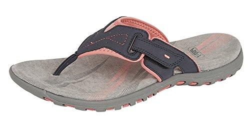 PDQ - Sandalias de vestir para mujer azul marino/rosa