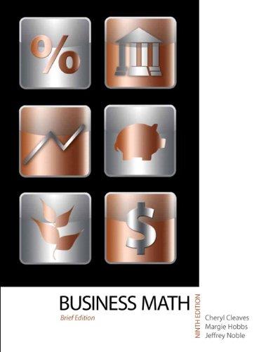 Business Mathematics, Brief Edition, 9th Edition