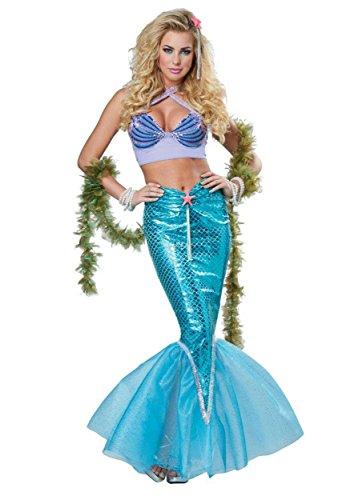 [California Costumes Deluxe Mermaid Adult Sea Creature Halloween Costume L] (Poison Ivy Plus Size Costumes)