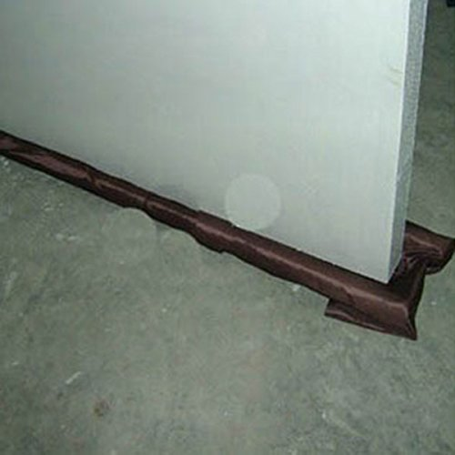 Safety Protector Twin Door Draft Brown Dodger Guard Stopper Energy Saving JB - Door Draft Protectors