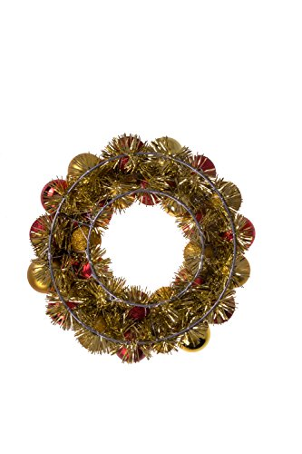 Clever Creations Christmas Ornament Wreath Bright Red and Gold | Festive Holiday Décor | Classic Theme | Lightweight Shatter Resistant | Indoor or Outdoor | Countless Uses | 13.5 x 13.5 x 2.75