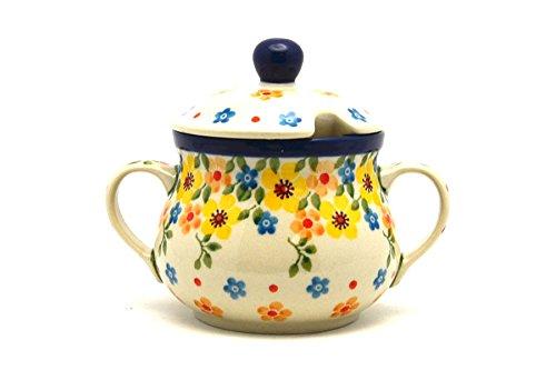 (Polish Pottery Sugar Bowl - Buttercup)