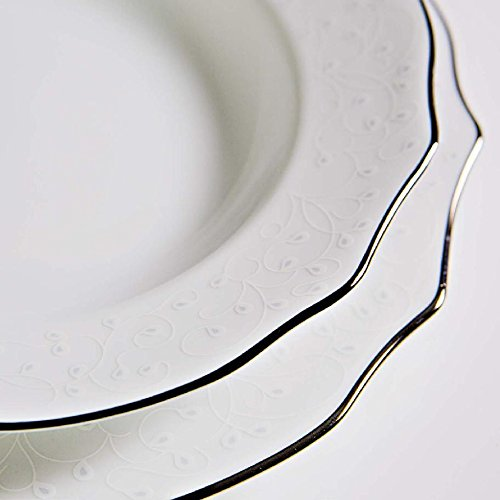 - Fade 50522 Maison Reyna 14 Table Service Set 40 Pieces, Porcelain, White