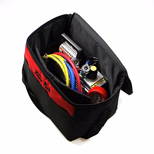 XtremepowerUS 3CFM 1/4HP Air Vacuum Pump HVAC R134a R12 R22 R410a A/C Refrigeration Kit AC Manifold Gauge Carrying Tote by XtremepowerUS (Image #2)