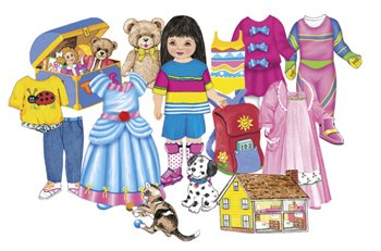 Pretty Pals Feltboard Felt Doll Set - Pre-Cut Figures