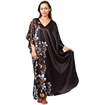 Caftan with Midnight Dream Floral Vines, Up2date Fashion Style#Caf-60C2