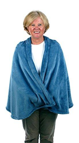 (Granny Jo Products Unisex-Adult's Fleece Cape-Wedgwood Blue, Wedgewood, Large/Extra)