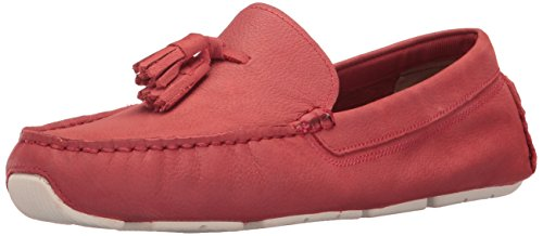 Cole Haan Women's Rodeo Tassel Driver Loafer New Mineral Red Nubuck/Ivory