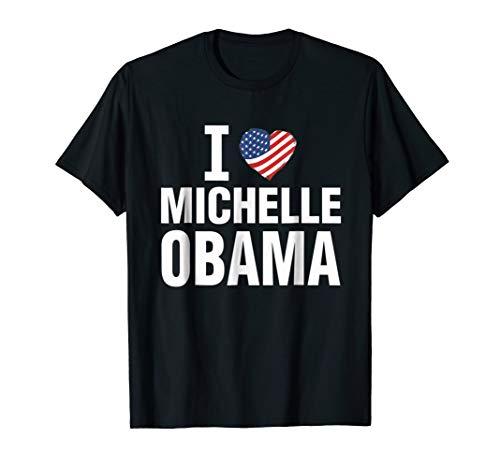 I Love Michelle Obama Heart 2020 Hope Support Women T shirt