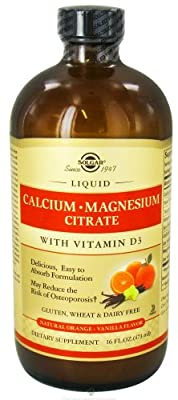 Solgar - Liquid Calcium Magnesium Citrate with 3 Natural Strawberry