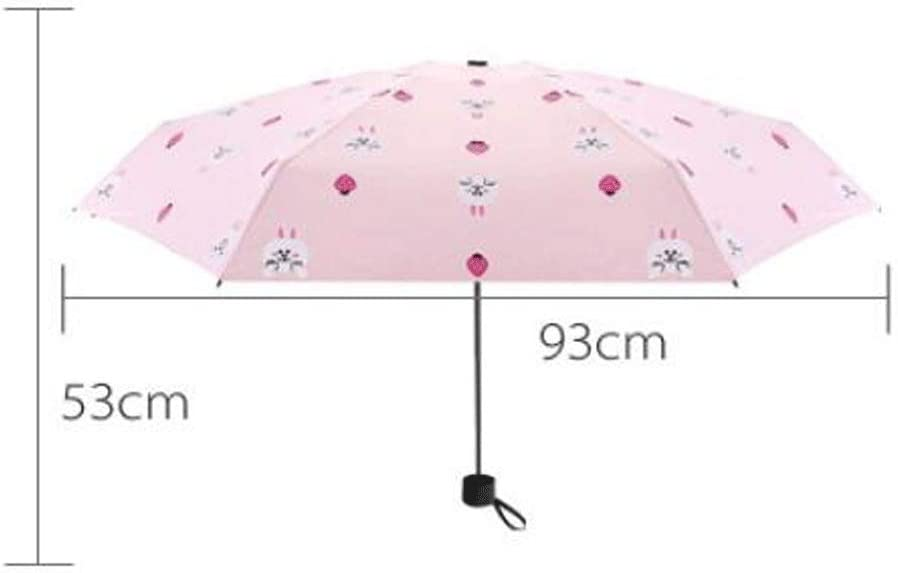 Portable Compact Foldable Lightweight Design and High Wind Resistance Sunscreen Anti-UV Umbrella Parasol,Vented Double Canopy Umbrella Color : A