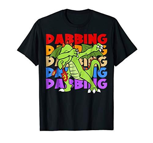 Retro Vintage Dabbing Dragon Fairy Tale Animals ()