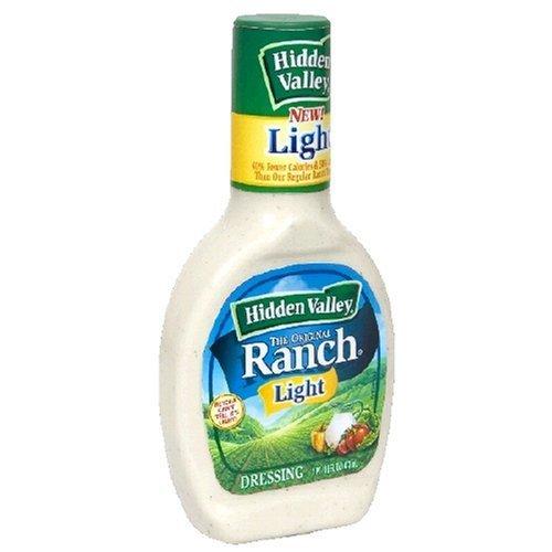 Hidden Valley Ranch, Lite Ranch Original Dressing, 24oz Squeeze Bottle (Pack of 3)