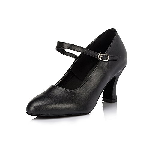 misu - Zapatillas de danza de Piel para mujer negro negro